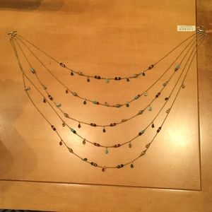 Ralph Lauren semi-precious stone tiered necklace